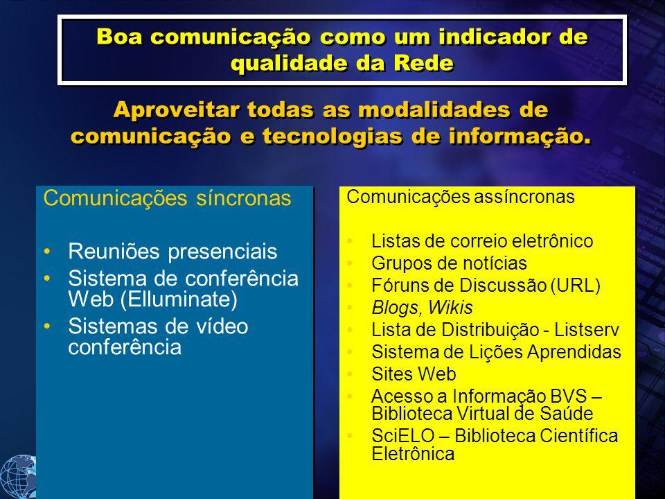 Boa comunicação como um indicador de qualidade da Rede