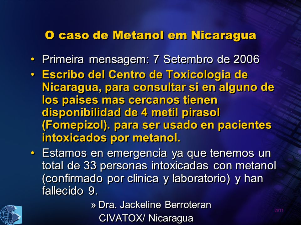 O caso de Metanol em Nicaragua