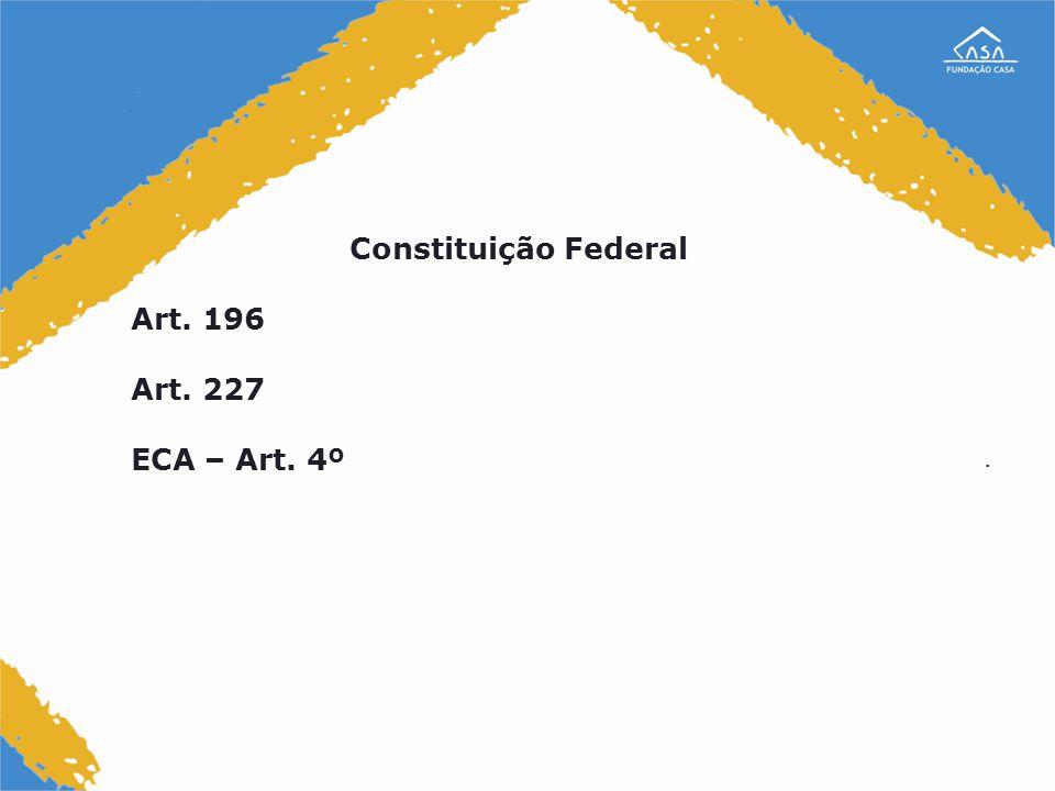 Constituição Federal Art. 196 Art. 227 ECA – Art. 4º .