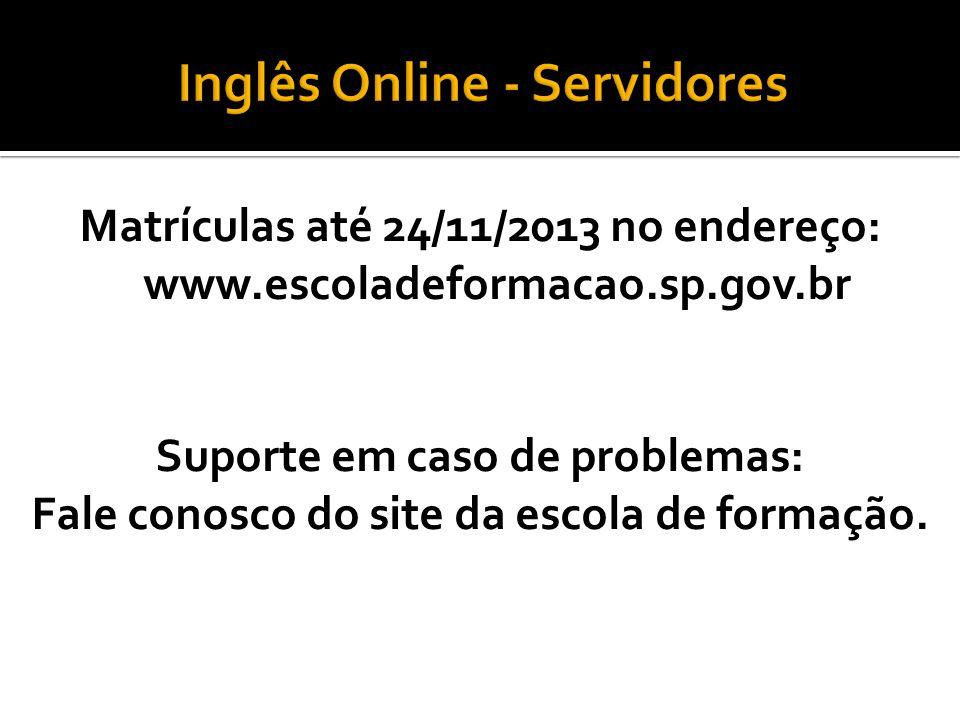 Inglês Online - Servidores