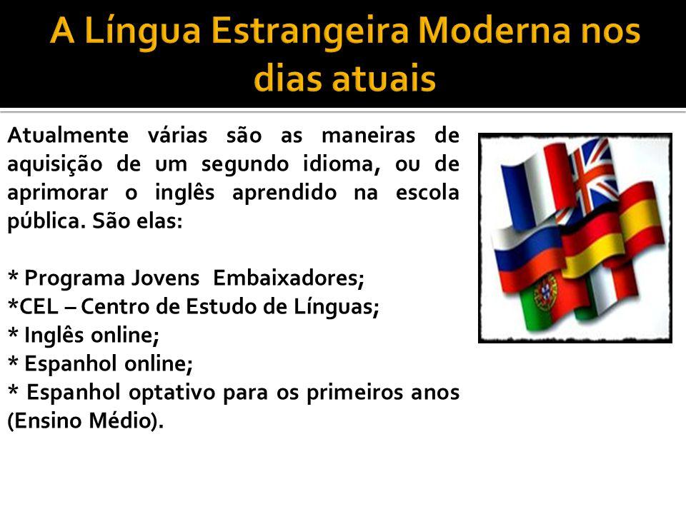 A Língua Estrangeira Moderna nos dias atuais