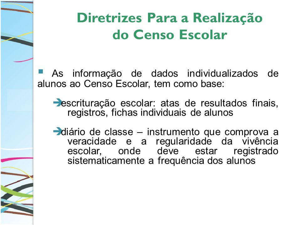 Diretrizes Para a Realização do Censo Escolar