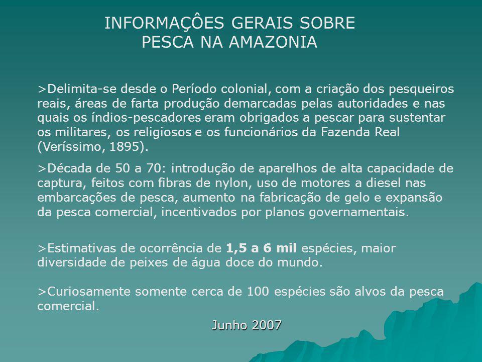INFORMAÇÔES GERAIS SOBRE PESCA NA AMAZONIA