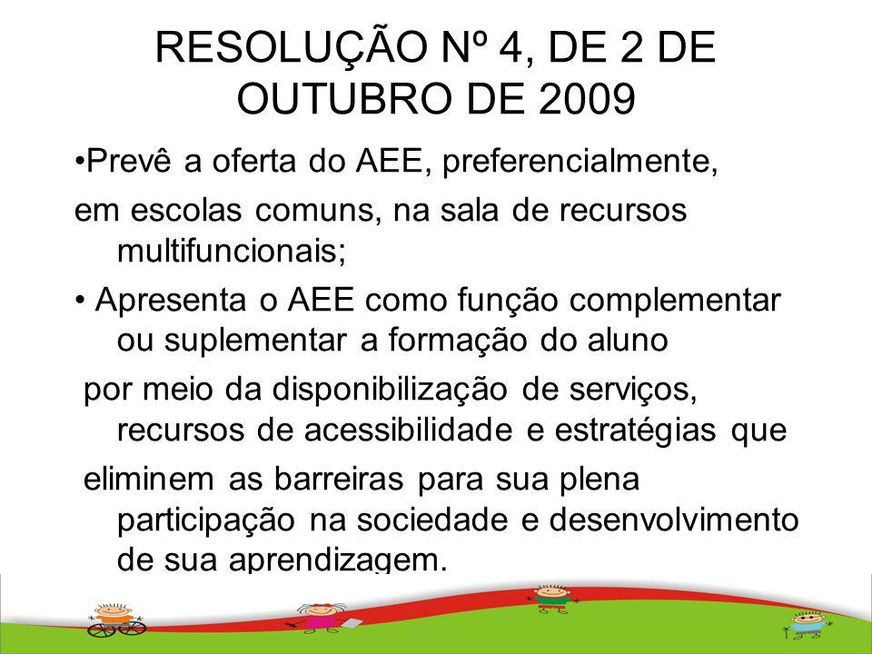 RESOLUÇÃO Nº 4, DE 2 DE OUTUBRO DE 2009
