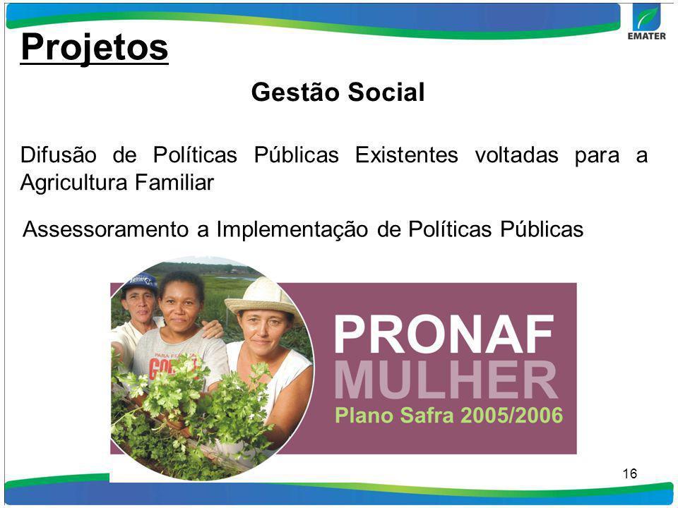 Projetos Gestão Social