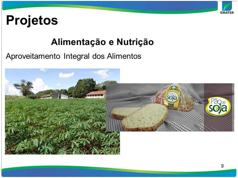 Projetos Alimentação e Nutrição Aproveitamento Integral dos Alimentos
