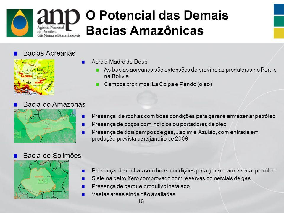 O Potencial das Demais Bacias Amazônicas