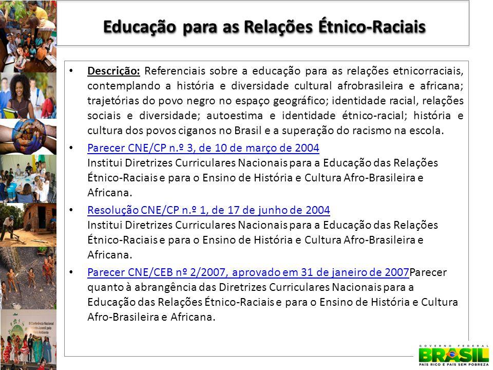 Educação para as Relações Étnico-Raciais