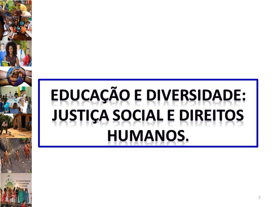 EDUCAÇÃO E DIVERSIDADE: JUSTIÇA SOCIAL E DIREITOS HUMANOS.