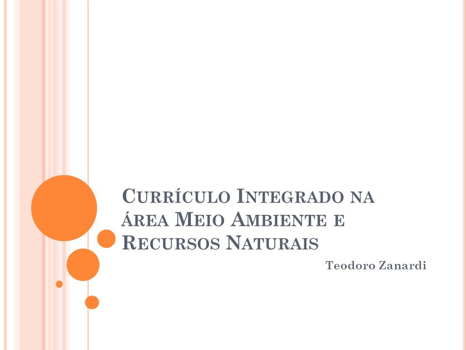 Currículo Integrado na área Meio Ambiente e Recursos Naturais