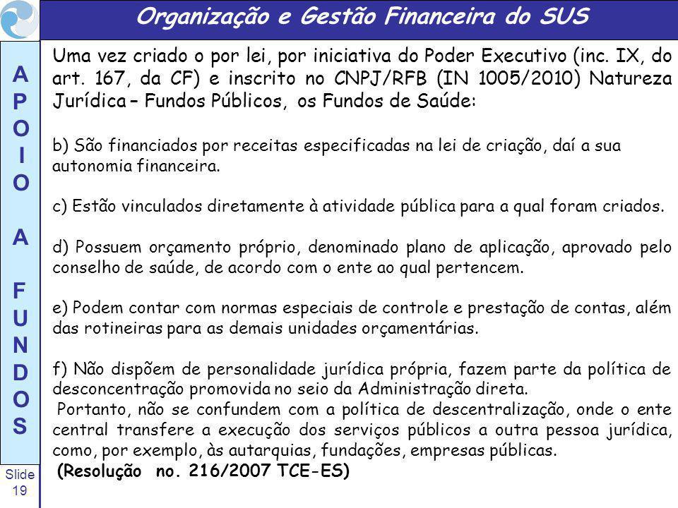 Organização e Gestão Financeira do SUS