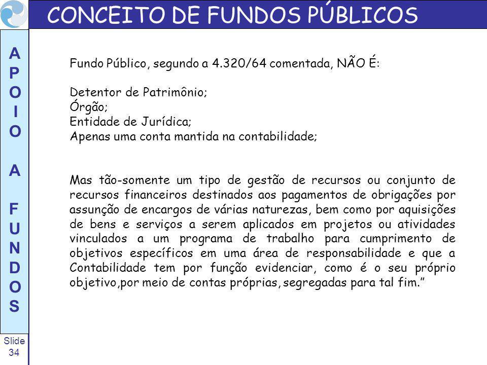 CONCEITO DE FUNDOS PÚBLICOS