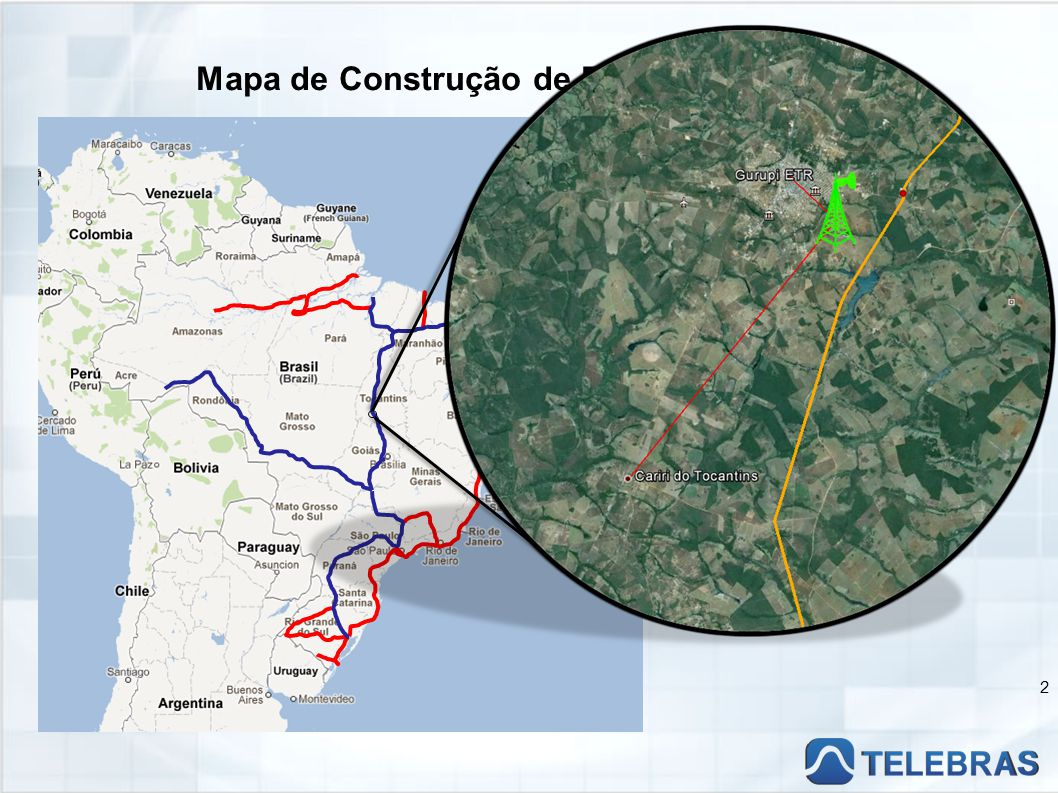 Mapa de Construção de Rede TELEBRAS