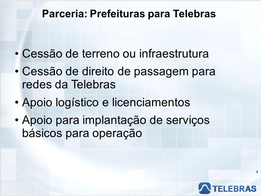 Parceria: Prefeituras para Telebras