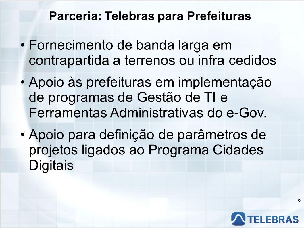 Parceria: Telebras para Prefeituras