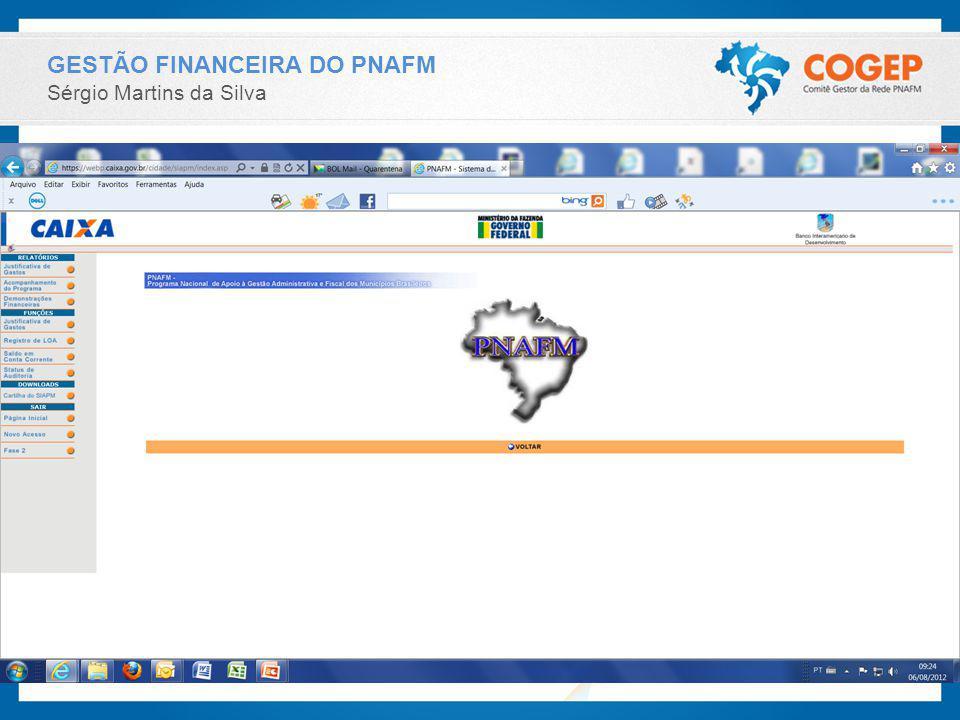 GESTÃO FINANCEIRA DO PNAFM
