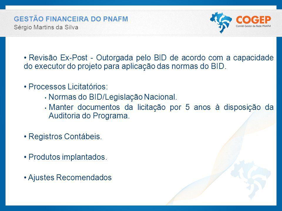 Processos Licitatórios: Normas do BID/Legislação Nacional.