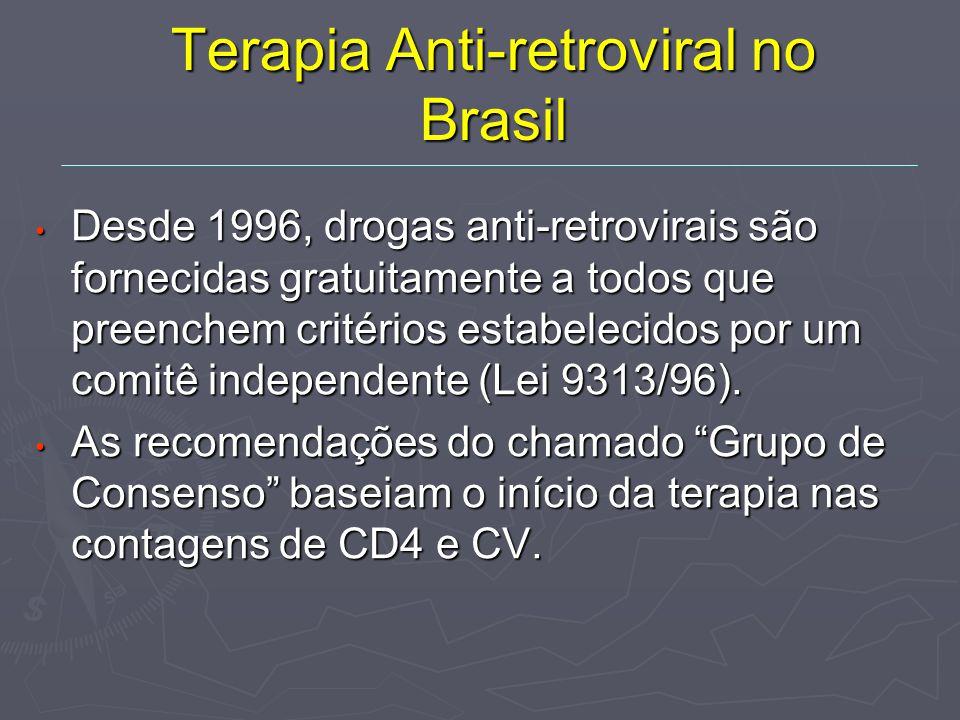 Terapia Anti-retroviral no Brasil