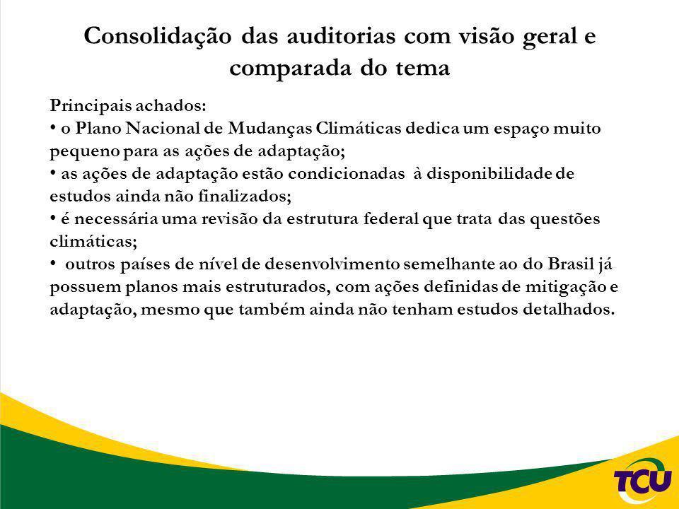 Consolidação das auditorias com visão geral e comparada do tema