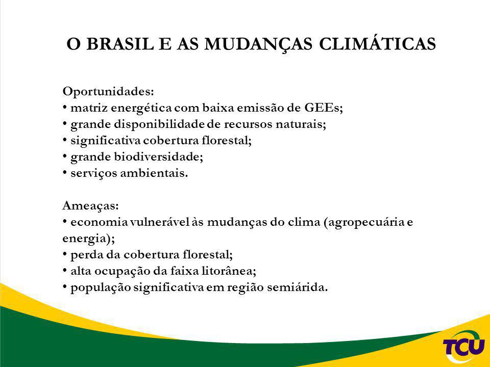 O BRASIL E AS MUDANÇAS CLIMÁTICAS