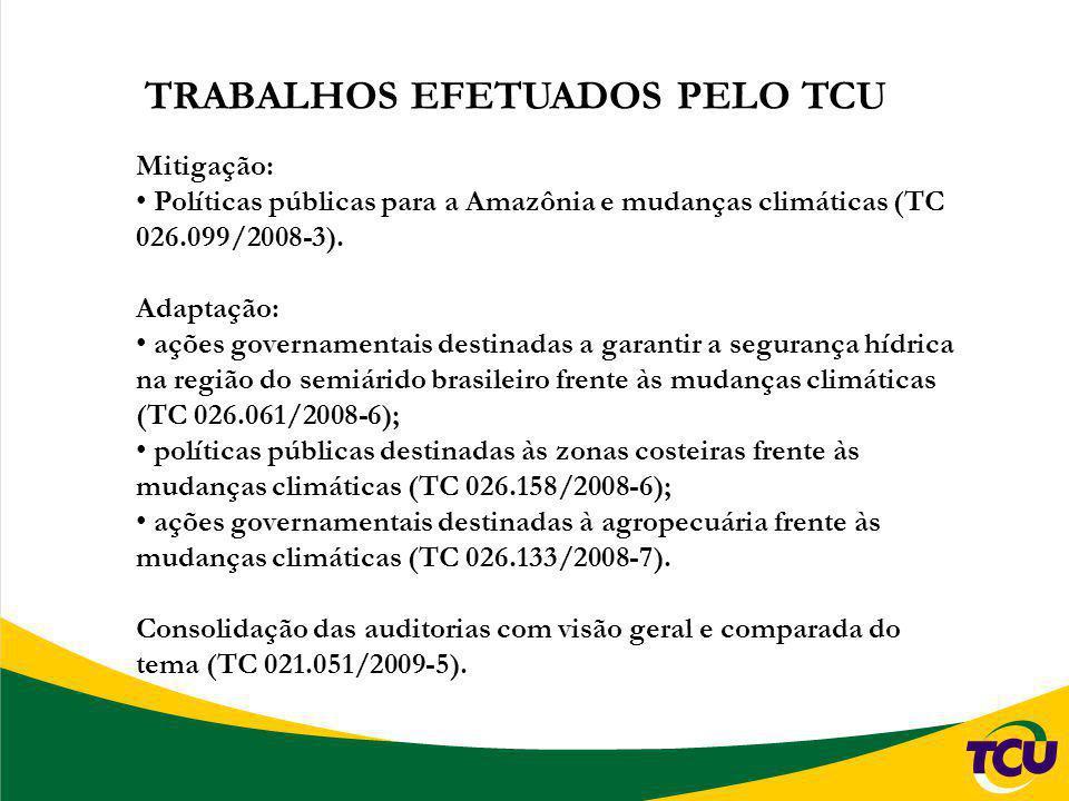 TRABALHOS EFETUADOS PELO TCU