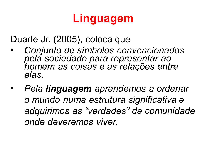 Linguagem Duarte Jr. (2005), coloca que