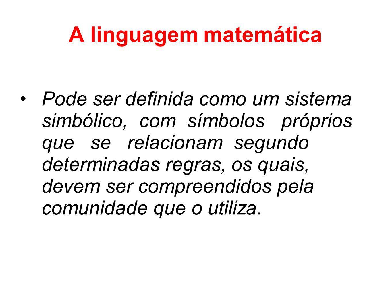 A linguagem matemática