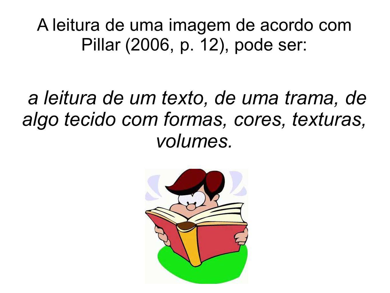 A leitura de uma imagem de acordo com Pillar (2006, p. 12), pode ser:
