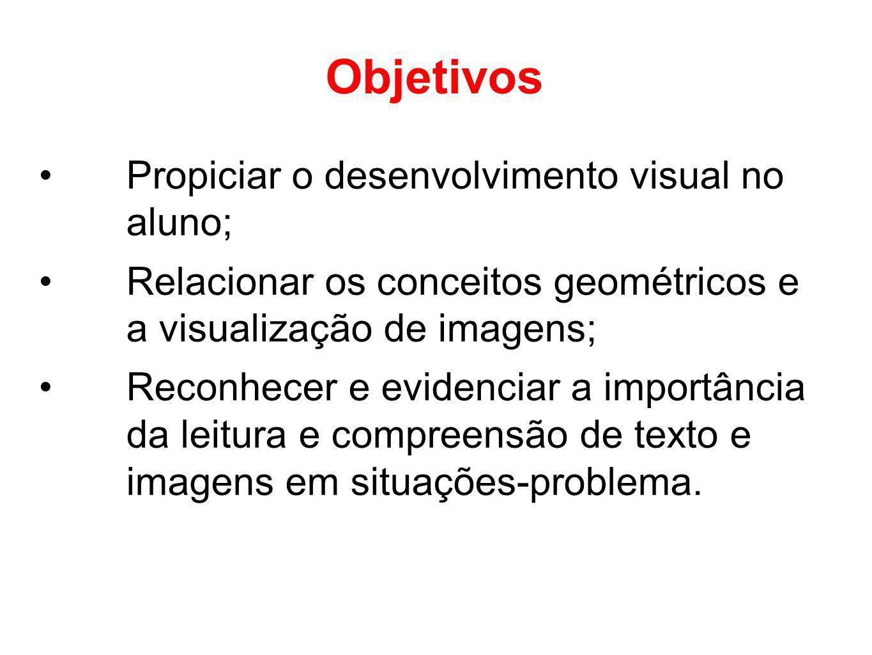 Objetivos Propiciar o desenvolvimento visual no aluno;