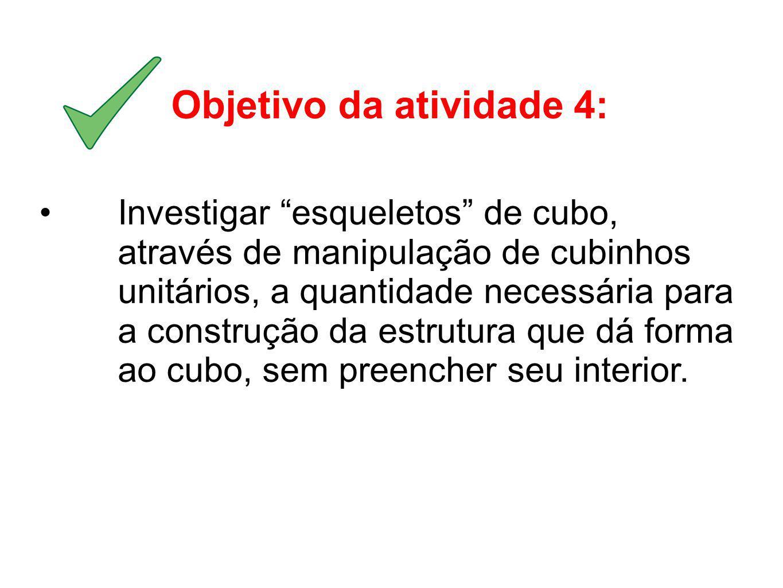 Objetivo da atividade 4: