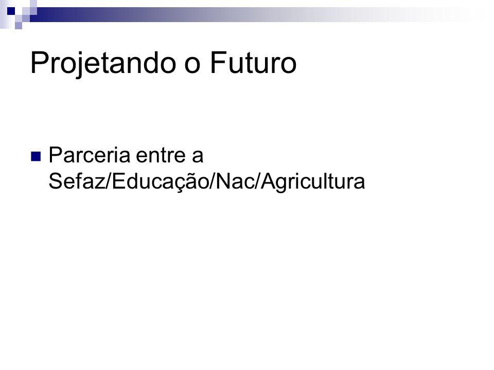 Projetando o Futuro Parceria entre a Sefaz/Educação/Nac/Agricultura