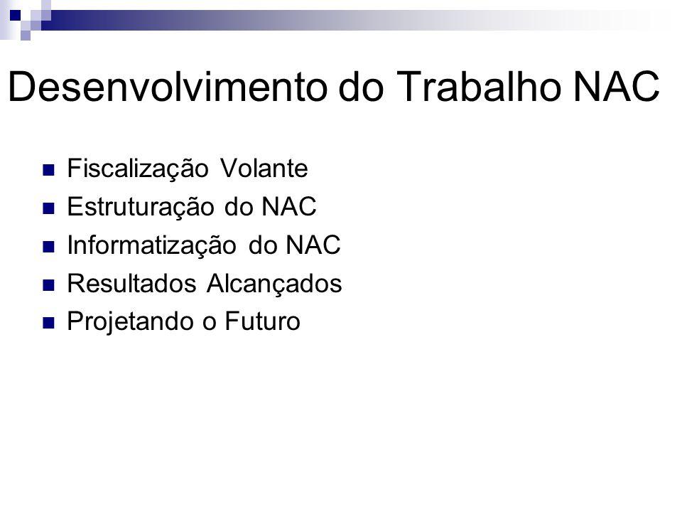 Desenvolvimento do Trabalho NAC