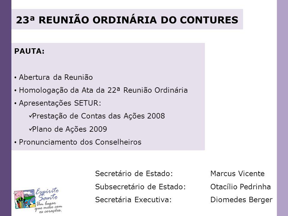 23ª REUNIÃO ORDINÁRIA DO CONTURES