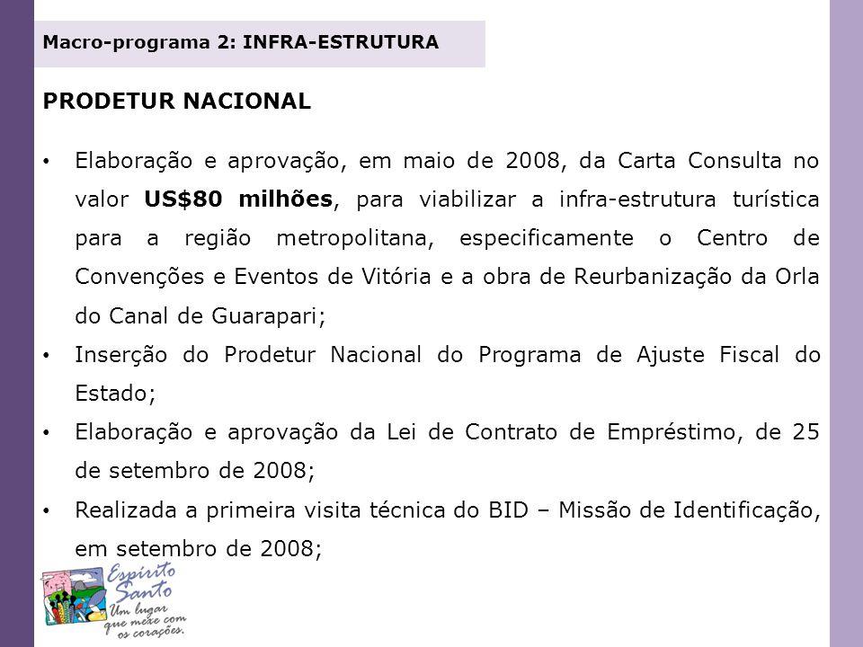 Inserção do Prodetur Nacional do Programa de Ajuste Fiscal do Estado;