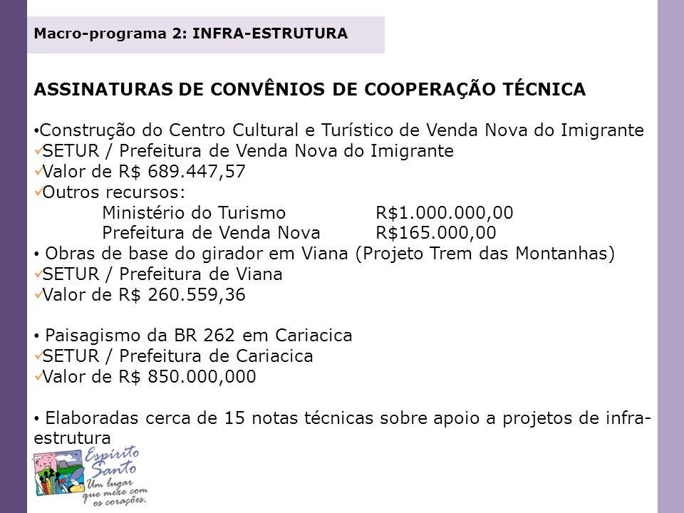 ASSINATURAS DE CONVÊNIOS DE COOPERAÇÃO TÉCNICA