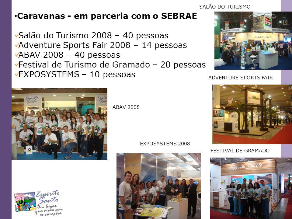 Caravanas - em parceria com o SEBRAE