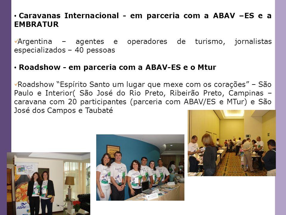 Caravanas Internacional - em parceria com a ABAV –ES e a EMBRATUR
