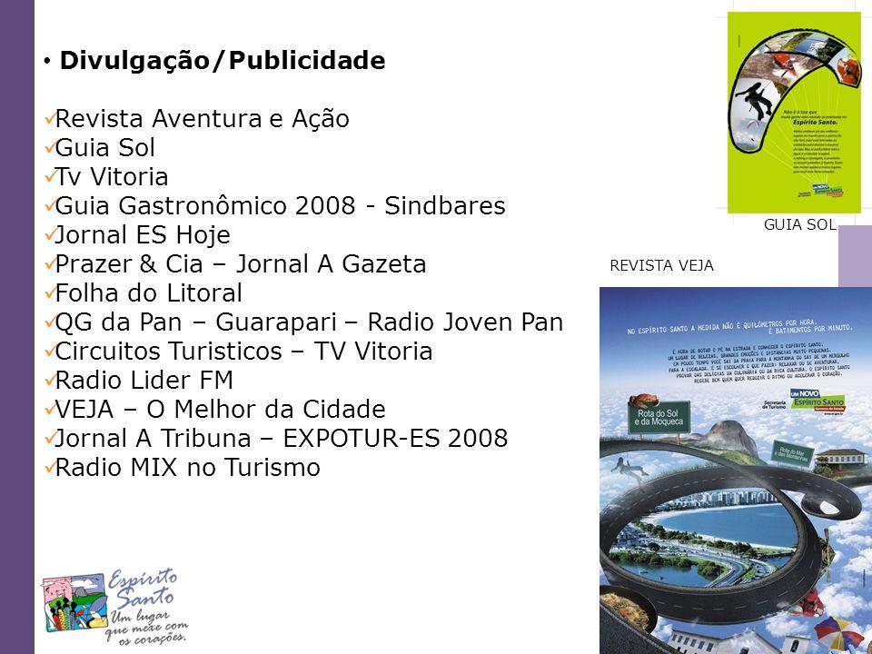 Divulgação/Publicidade Revista Aventura e Ação Guia Sol Tv Vitoria
