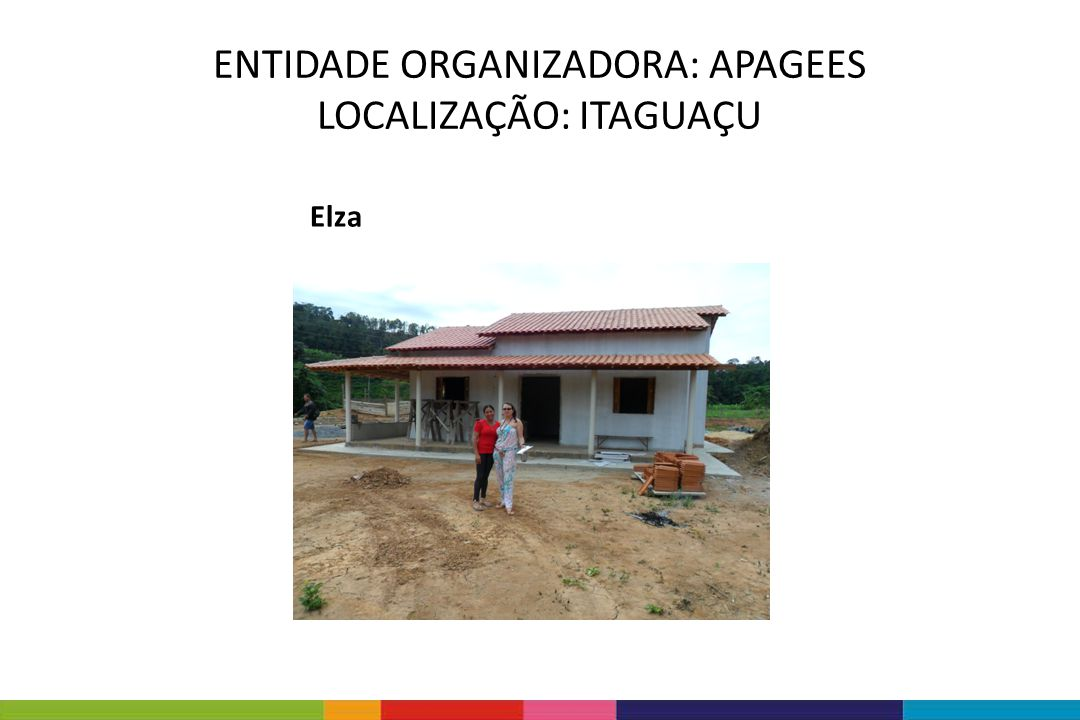 ENTIDADE ORGANIZADORA: APAGEES LOCALIZAÇÃO: ITAGUAÇU
