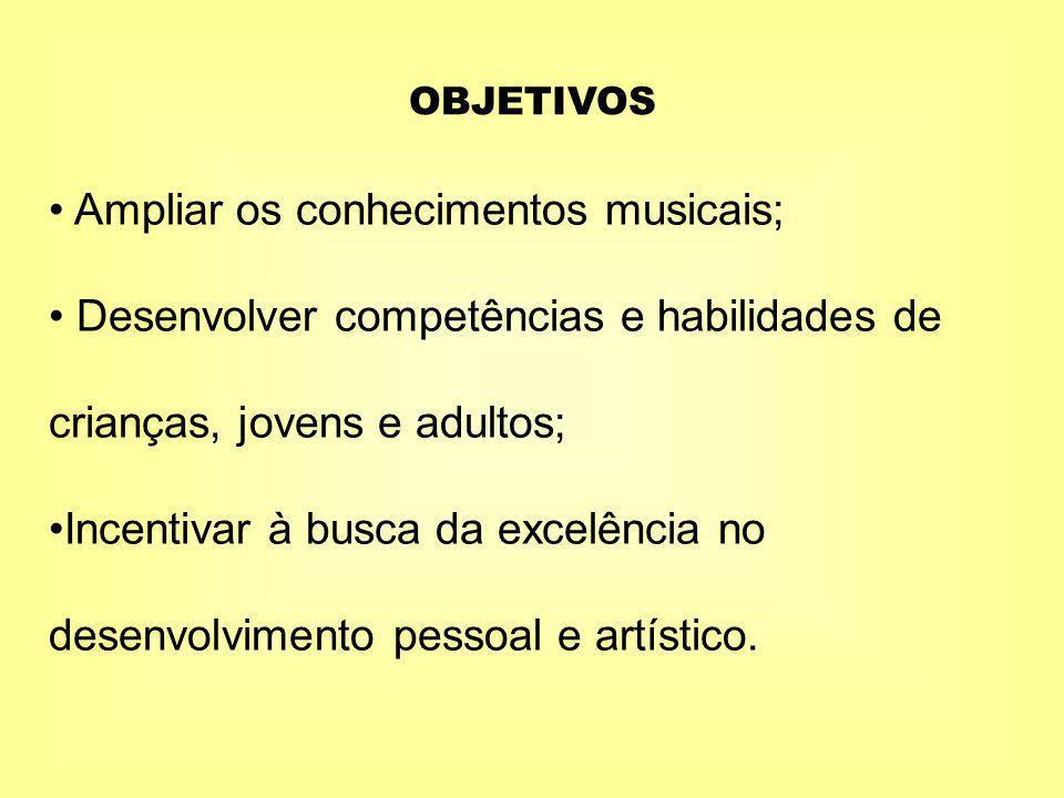 Ampliar os conhecimentos musicais;