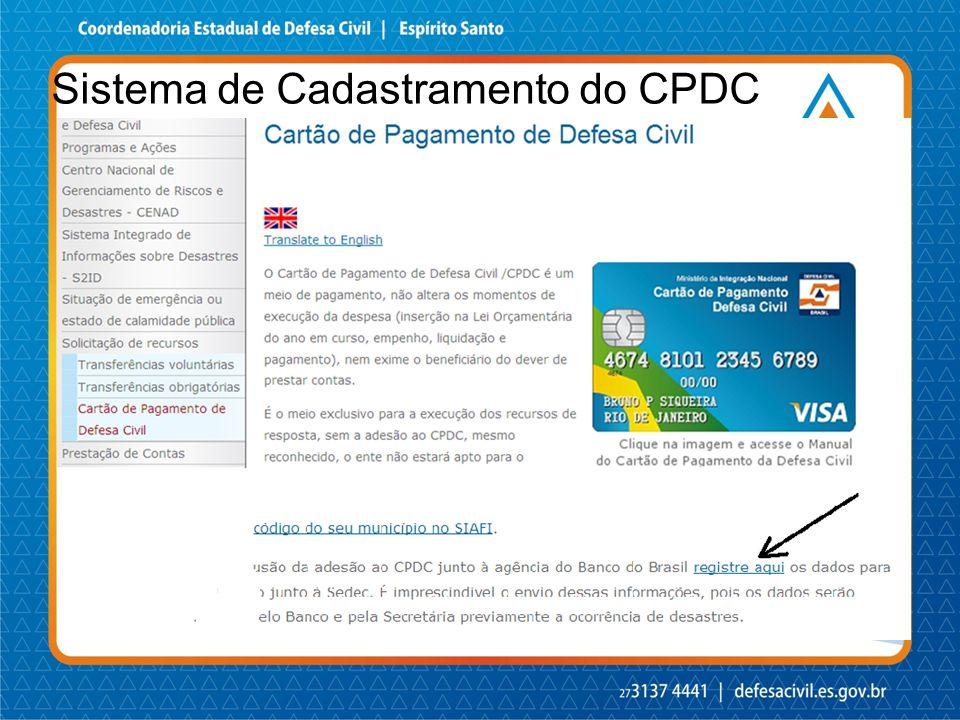 Sistema de Cadastramento do CPDC