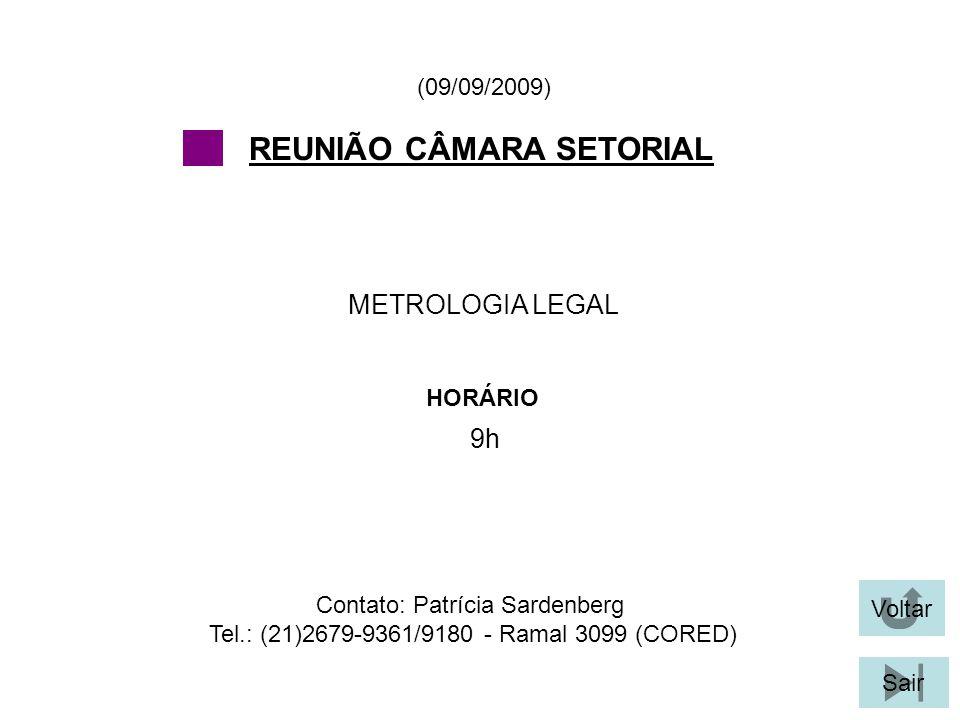 REUNIÃO CÂMARA SETORIAL