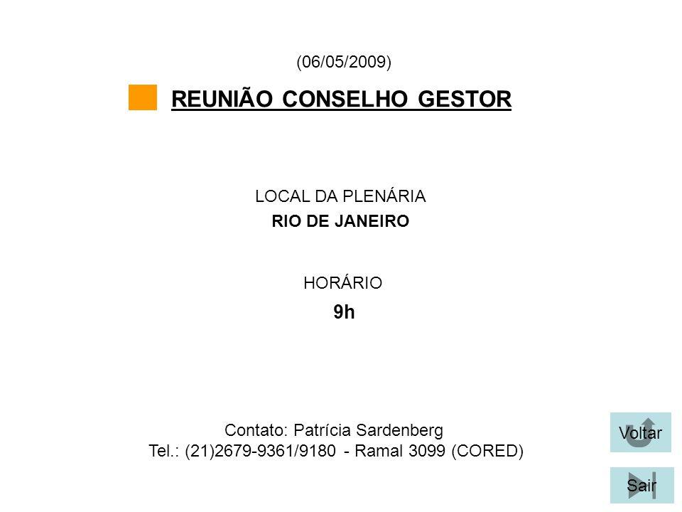 REUNIÃO CONSELHO GESTOR