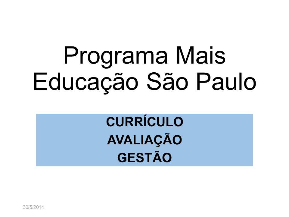 Programa Mais Educação São Paulo