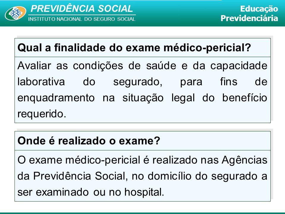 Qual a finalidade do exame médico-pericial