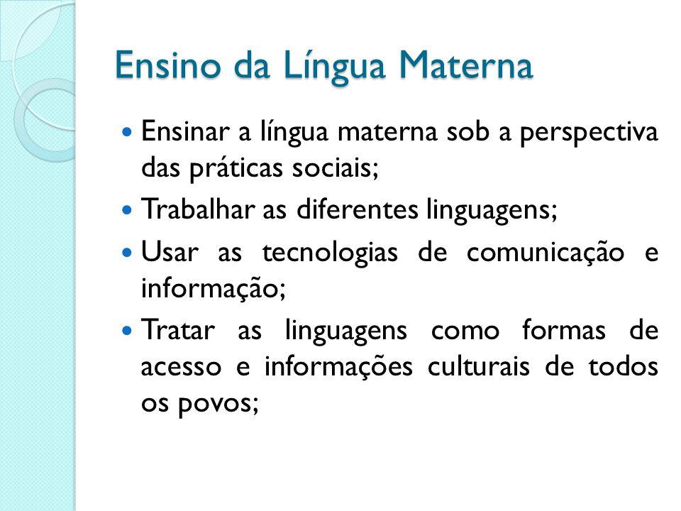 Ensino da Língua Materna