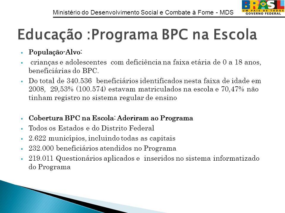 Educação :Programa BPC na Escola