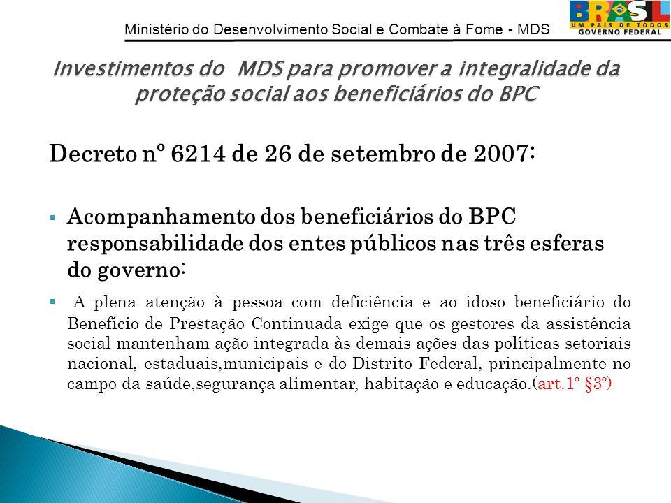 Decreto nº 6214 de 26 de setembro de 2007: