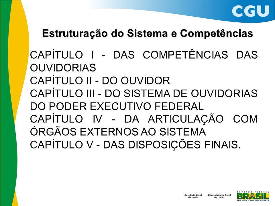 Estruturação do Sistema e Competências