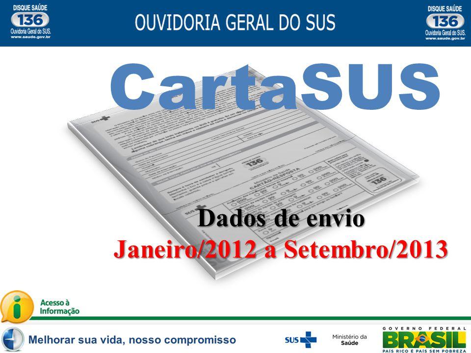CartaSUS Dados de envio Janeiro/2012 a Setembro/2013